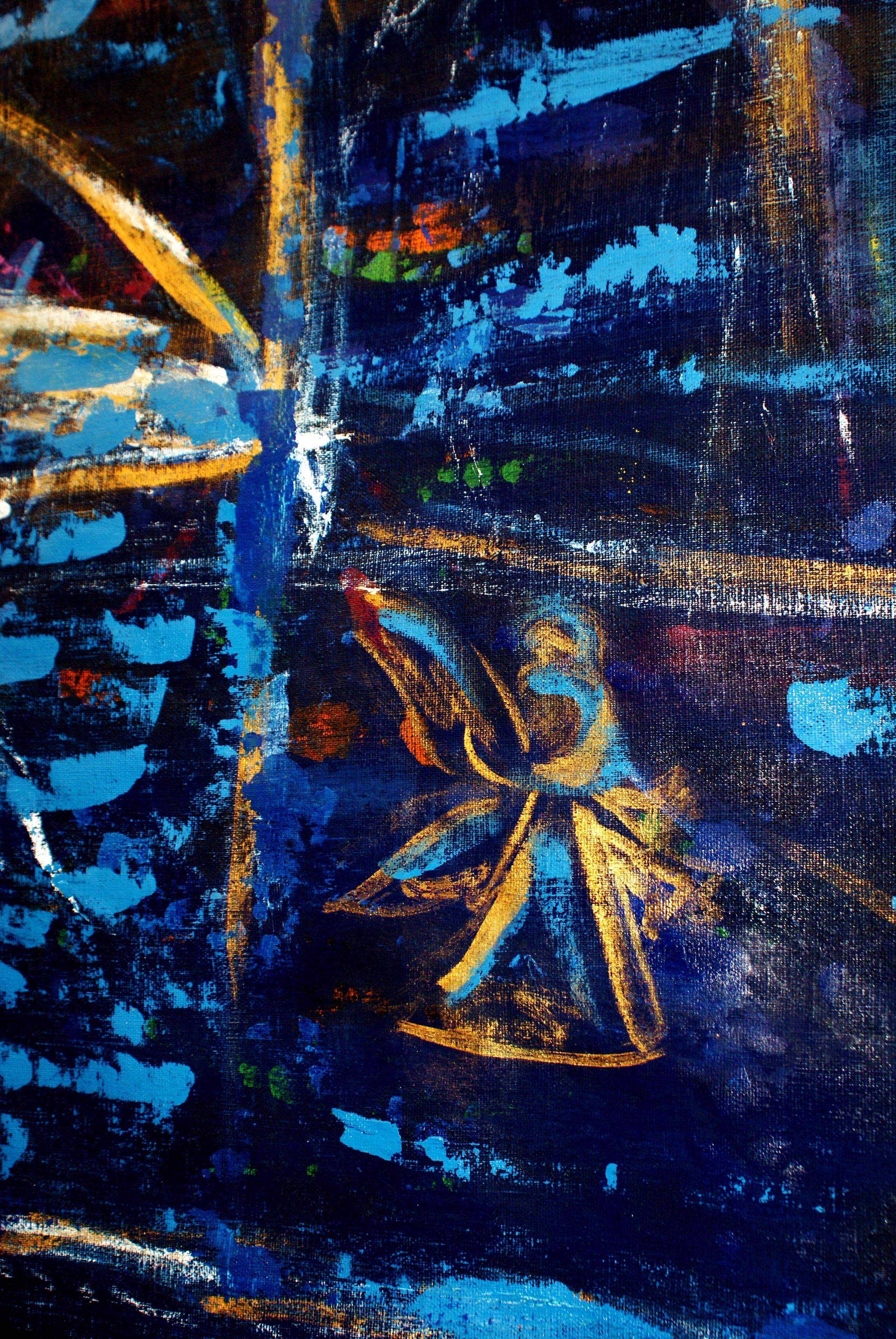 un dettaglio dell'opera moto perpetuo dell'artista Angela Nasone